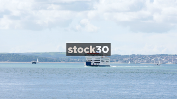 A Wightlink Ferry On The Solent, UK