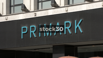 Primark, Manchester. Close Up On Sign. UK