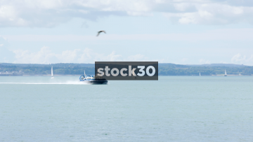 A Hovercraft On The Solent, UK