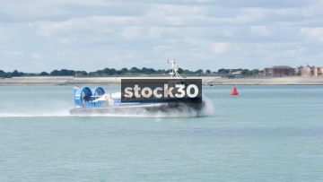 A Hovercraft Arriving At Southsea Hoverport, UK