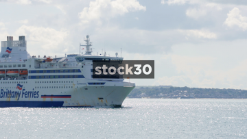 A Brittany Ferries Ship On The Solent, UK