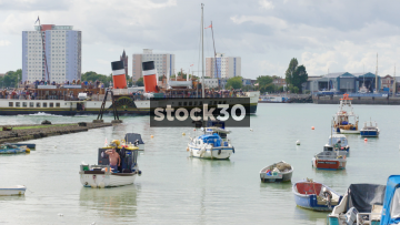 A Tour Ship In Portsmouth Harbour, UK