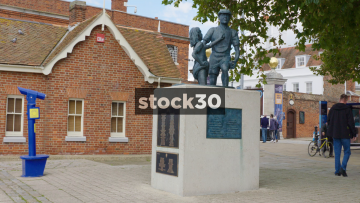 Statue At Portsmouth Harbour, UK