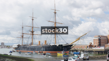 HMS Warrior In Portsmouth Harbour, UK