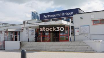 Portsmouth Harbour Railway Station, UK
