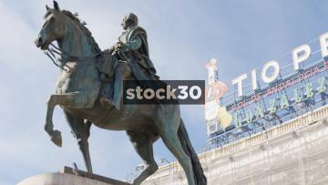 Statue Of Carlos III In Madrid, Spain