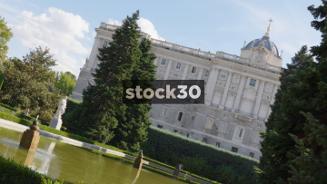The Royal Palace And Gardens In Madrid, Spain