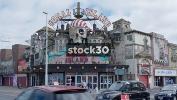 Blackpool Coral Island Amusement Arcade Wide Shot, UK