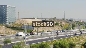 View Of A Motorway In Madrid, Spain