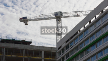 A Crane Rotating In London, UK