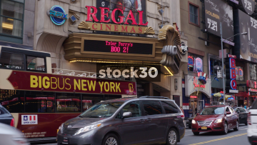Regal Cinemas On 42nd Street In New York City, USA