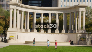 Millennium Monument At Wrigley Square In Chicago, USA
